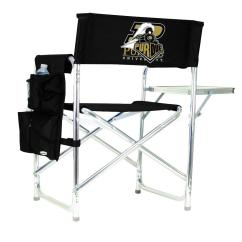 Folding Chair Embroidered Types Picnic Time Purdue University Black Sports With Logo