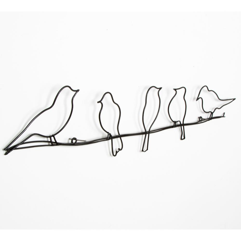 Metal Wall Art Bird Decorative Gallery Wall Hang Living
