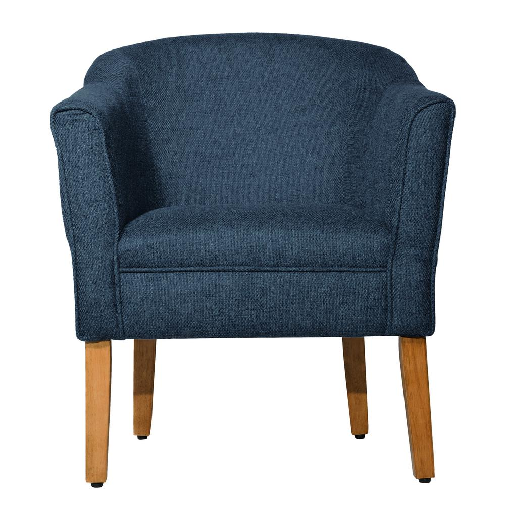 tub accent chair used lift chairs homepop navychunky blue textured k6859 f1570 the home