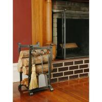 Pleasant Hearth Adjustable Firewood Rack Bracket Kit ...