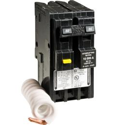 square d homeline 50 amp 2 pole gfci circuit breaker hom250gficp to wire 50 hot tub breaker on square d electrical breaker box wiring [ 1000 x 1000 Pixel ]