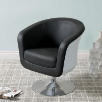 CorLiving Mod Modern Black and White Bonded Leather Tub ...
