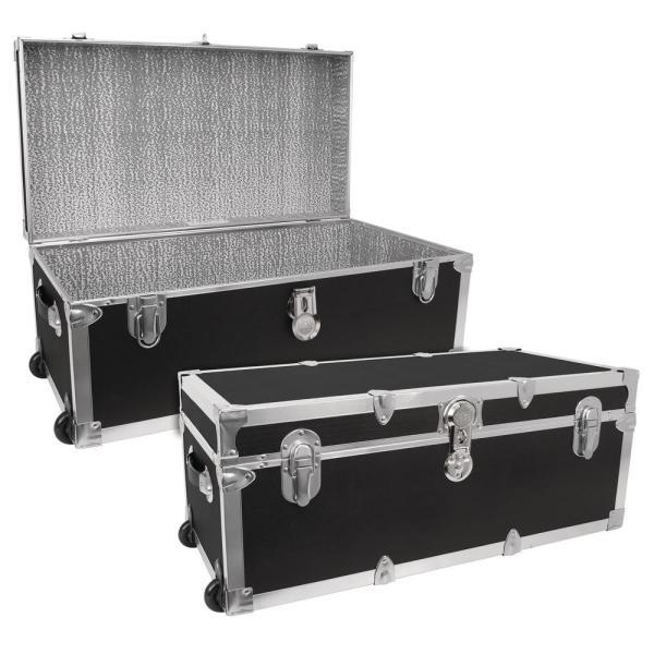 Seward Trunk Modern Collection Black Storage Trunk-swd7130