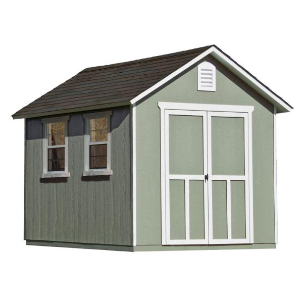 Handy Home Products Majestic 8 Ft. X 12 Wood Storage Shed-18631-8 - Depot