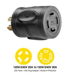 powerfit 20 amp 240 volt to 30 amp 240 volt outlet adapter [ 1000 x 1000 Pixel ]