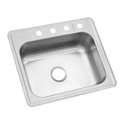 Ss Kitchen Sinks French Country Style Accessories Stainless Steel The Home Depot Drop In 25 4 Hole Single Bowl Sink