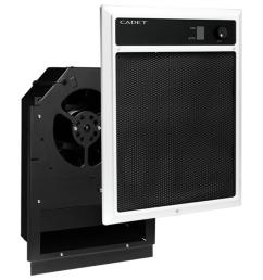 nlw series 4 500 watt 240 208 volt in wall fan forced electric heater assembly with grill [ 1000 x 1000 Pixel ]
