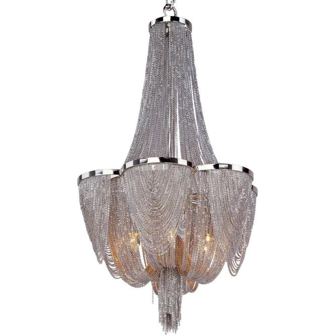 Maxim Lighting Chantilly 6 Light Polished Nickel Chandelier 21464nkpn The Home Depot
