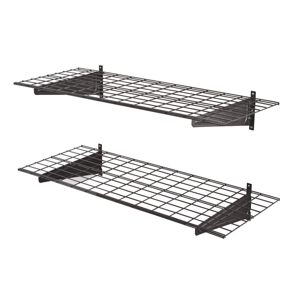 Muscle Rack 2-Shelf 48 in. W Wire Garage Wall Storage