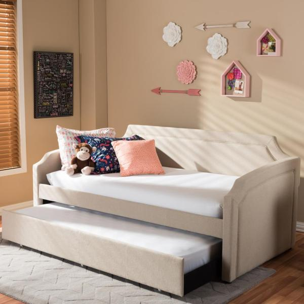 Dorel Living Kayden White Twin Daybed-fa6394w - Home Depot