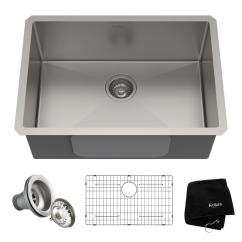 High End Kitchen Sinks Table With Chairs Kraus Standart Pro Undermount Stainless Steel 26 In Single Bowl Sink