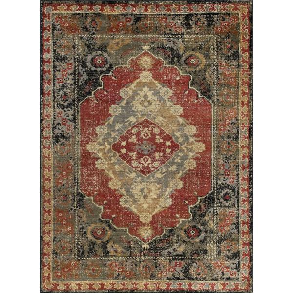 Tayse Rugs Sensation Red 8 Ft. 9 In. X 12 3 Area Rug-sns4900 9x12 - Home Depot
