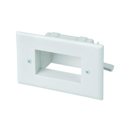 small resolution of exclusive commercial electric low voltage recessed cable plate white