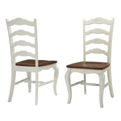 Oak And White Dining Chairs Nursing Glider Chair Home Styles French Countryside Rubbed Set Of 2