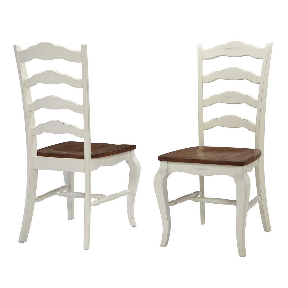Country Kitchen Chairs French Countryside Rubbed White Oak Dining Chair Set Of 2