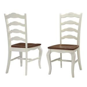 white distressed dining chairs fairfield wingback chair home styles rubbed wood double x back set of 2 french countryside oak