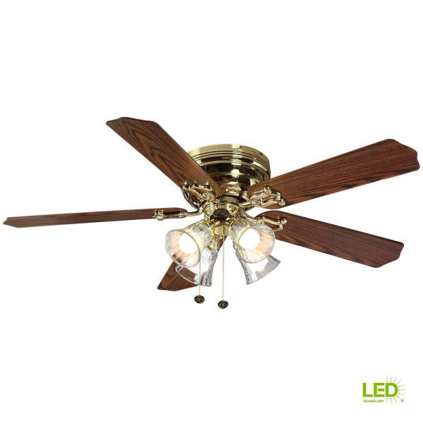 Polished Brass Ceiling Fans with Lights