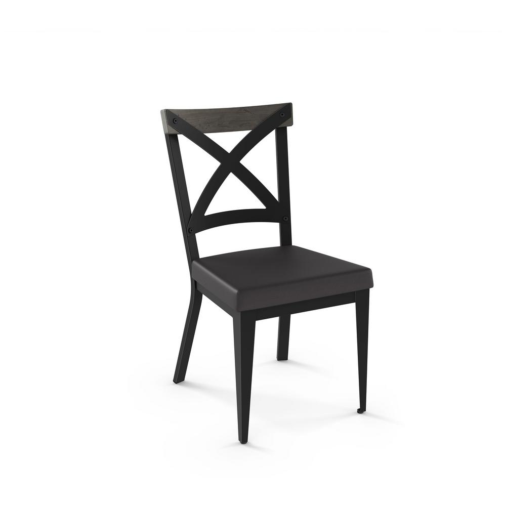 light wood dining chairs mechanic creeper chair snyder black metal charcoal cushion grey 30529 25da89 the home depot