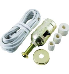 ge bottle lamp kit cord white 50961 the home depot wire a bottle lamp kit [ 1000 x 1000 Pixel ]