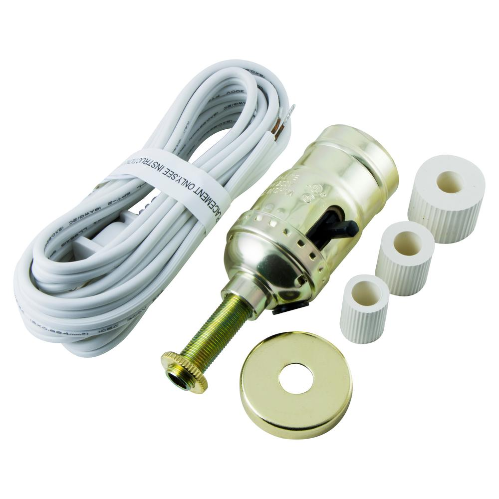 hight resolution of ge bottle lamp kit cord white 50961 the home depot wire a bottle lamp kit