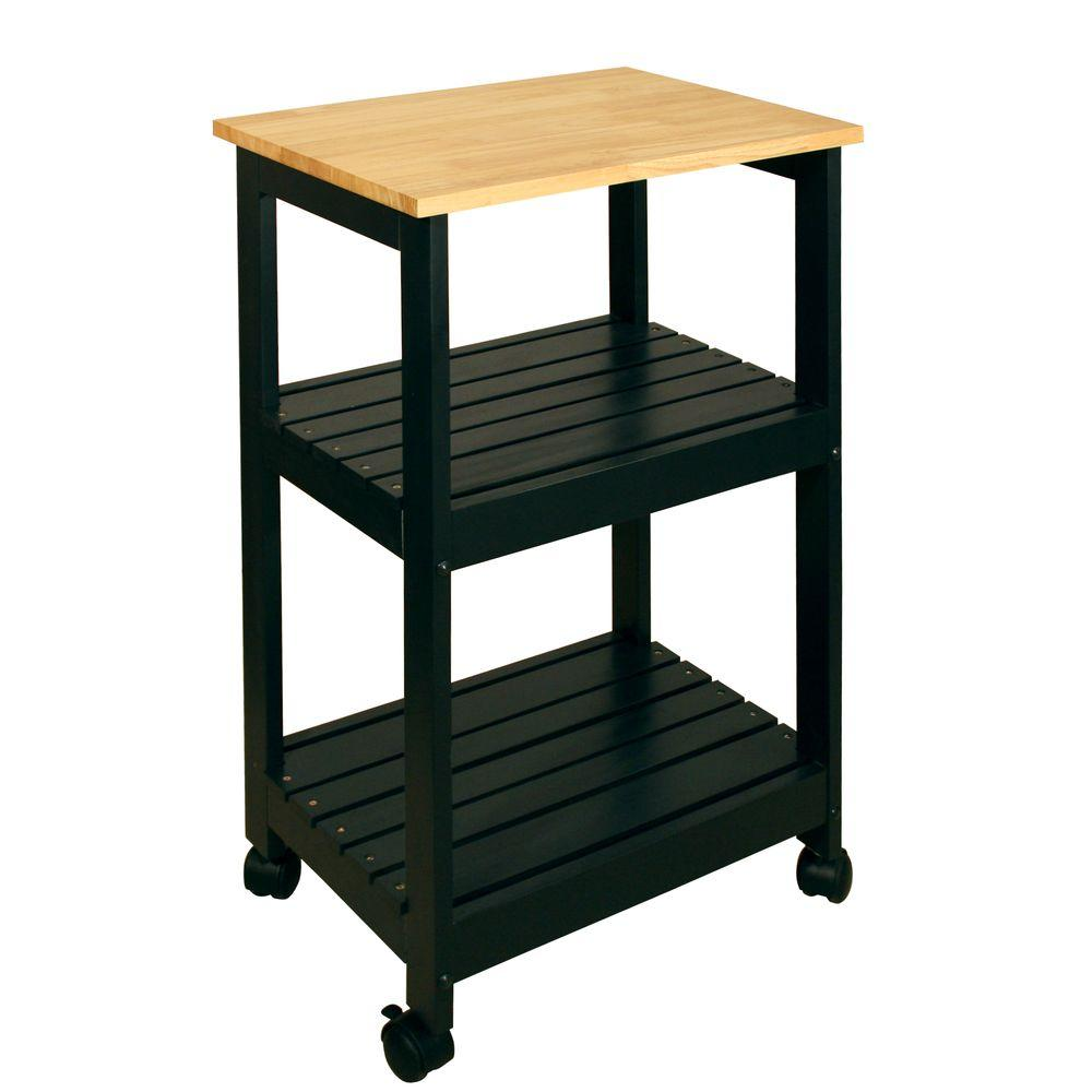 kitchen utility carts american standard country sink catskill craftsmen black cart with shelf 81516 the home depot