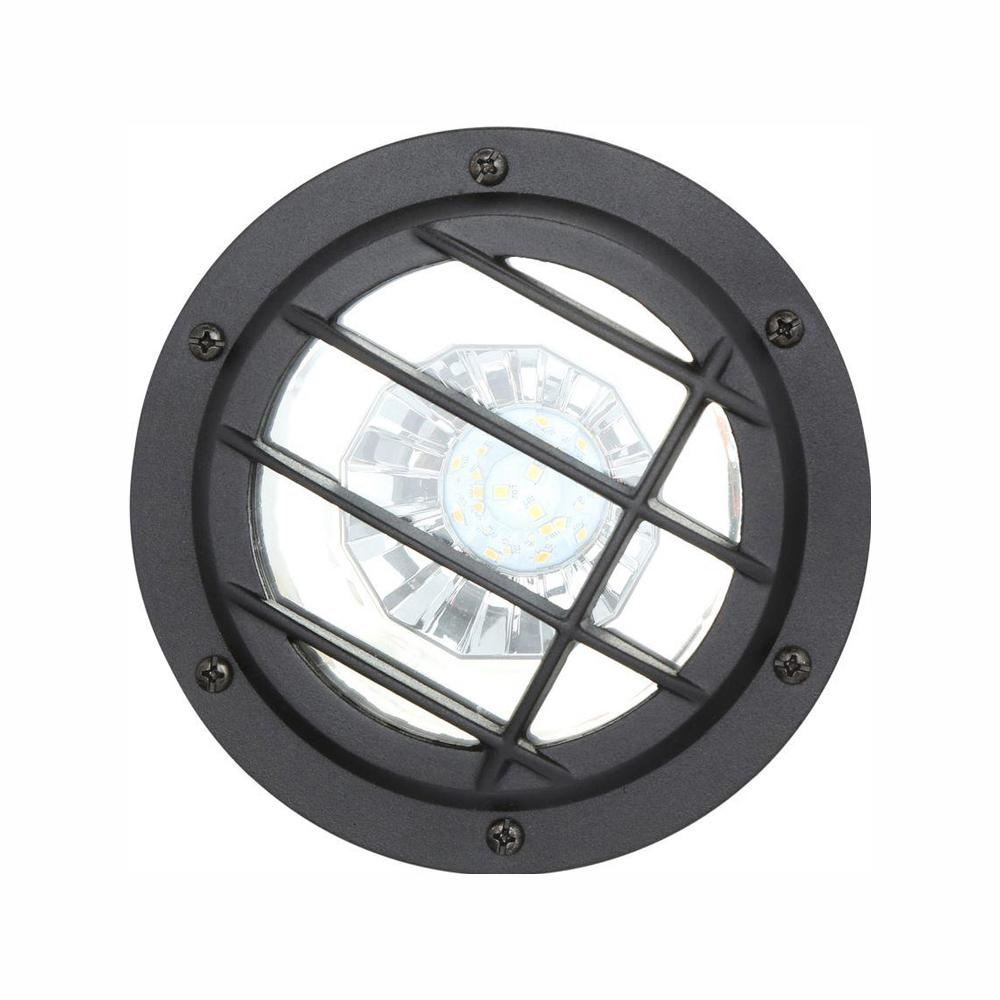 medium resolution of low voltage black outdoor integrated led landscape well light