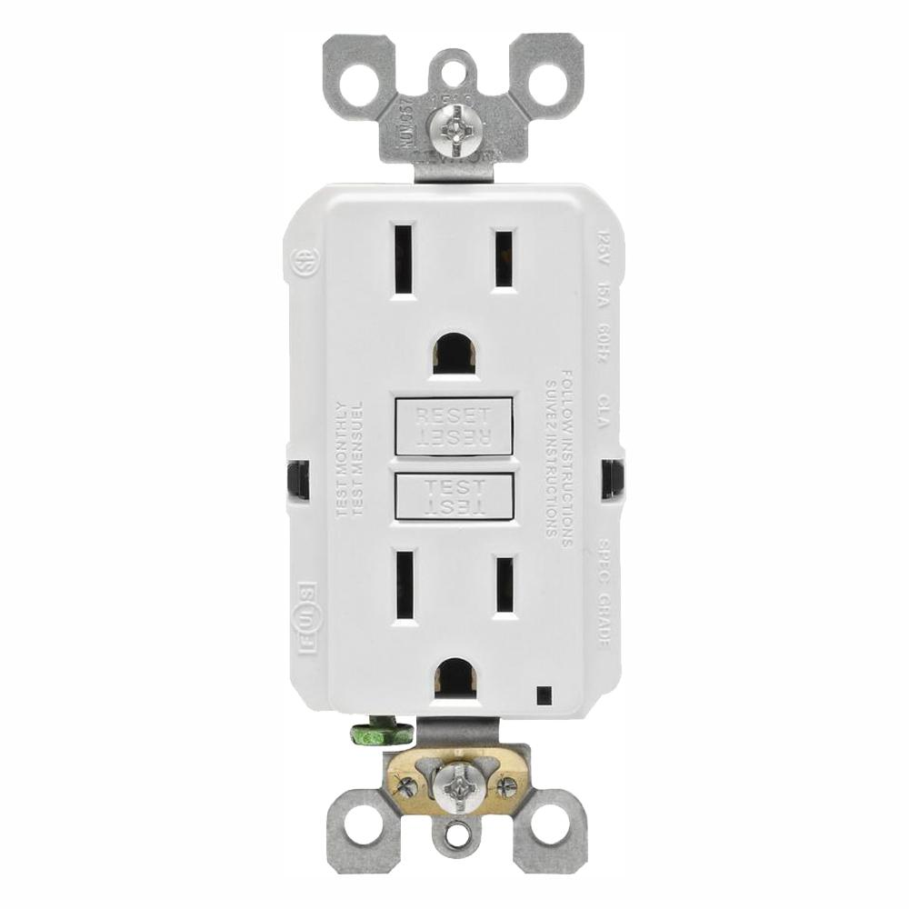 medium resolution of this review is from 15 amp 125 volt duplex self test slim gfci outlet white 4 pack