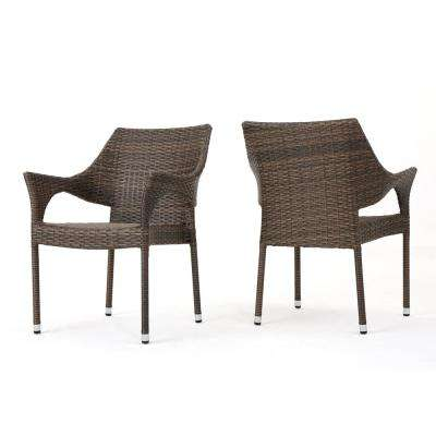 stackable outdoor chairs cover chair seat corners dining patio the home depot alessandro mix mocha wicker
