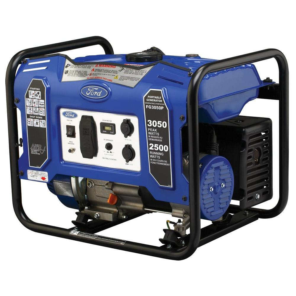 medium resolution of ford 3 050 2500 watt gasoline powered recoil start portable generator with 180 cc ducar