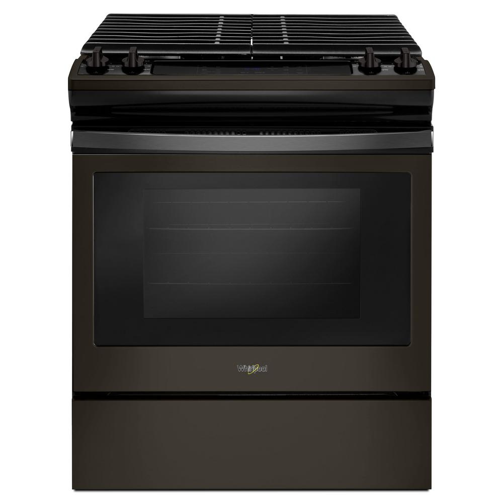 cast iron kitchen stove tile for backsplash in whirlpool 5 0 cu ft gas range with grates fingerprint resistant