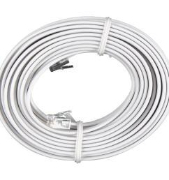 phone line cord white [ 1000 x 1000 Pixel ]