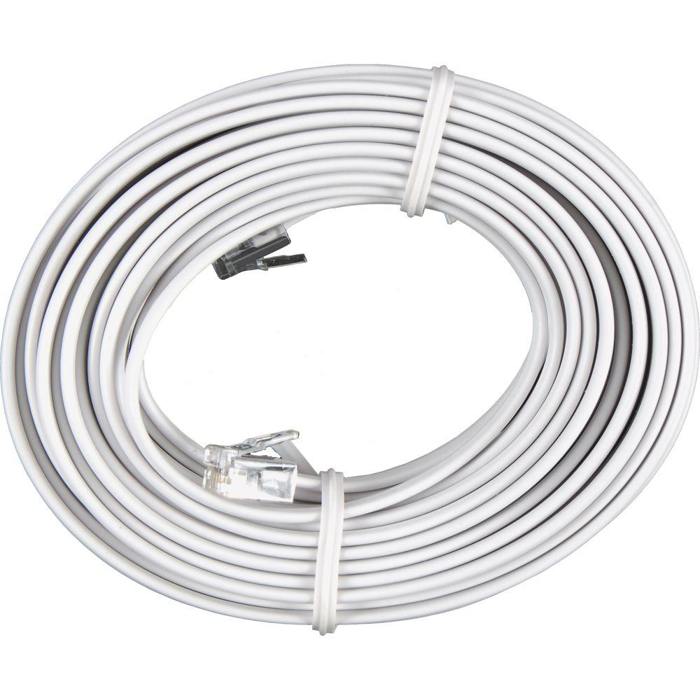 hight resolution of phone line cord white