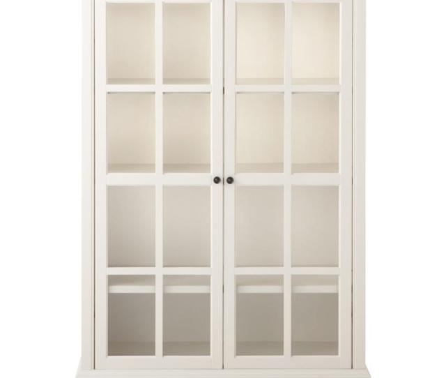 Home Decorators Collection Hamilton Polar White Glass Door Bookcase 9787300410 The Home Depot