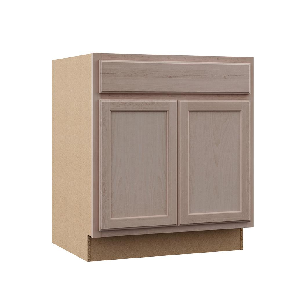 Assembled 30x34 5x24 In Base Kitchen Cabinet In Unfinished Beech