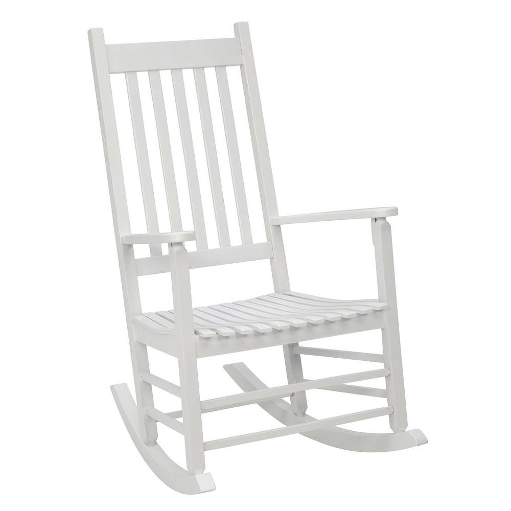 white rocking chairs for sale tete a chair outdoor patio the home depot mission rocker