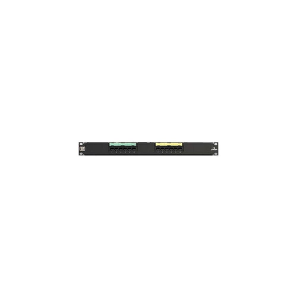 medium resolution of 12 port extreme cat 6 flat 110 style 1ru patch panel with cable management bar black
