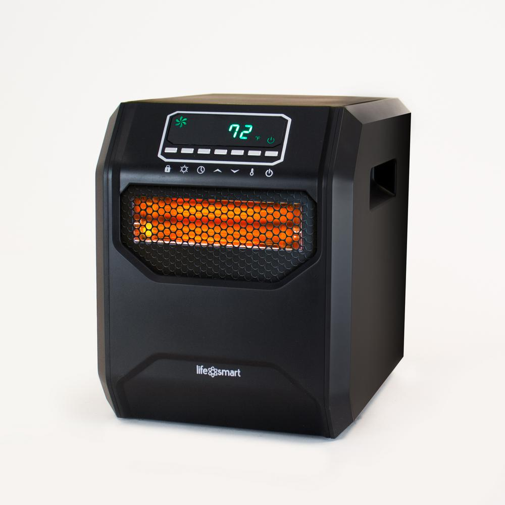 hight resolution of lifesmart medium room 1 500 watt 4 element infrared heater with remote without casters