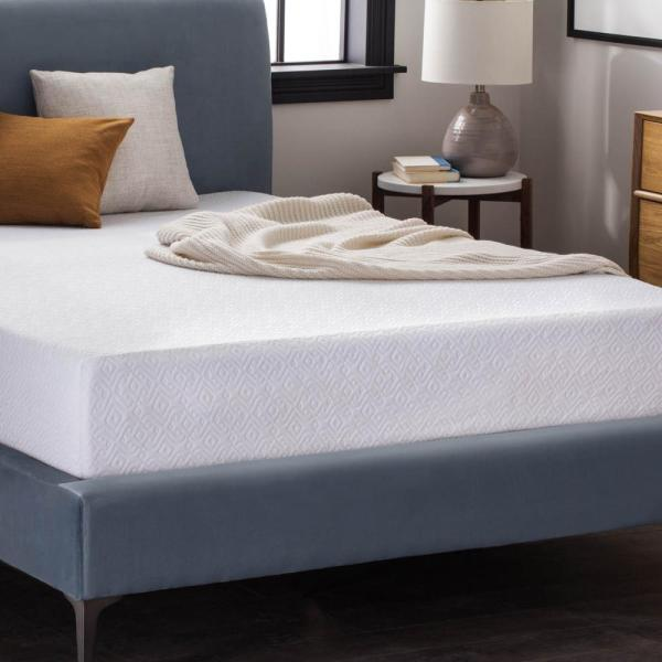 Lucid 10 In. Queen Dual Layer Gel Memory Foam Mattress-hdlu10qq45mf - Home Depot