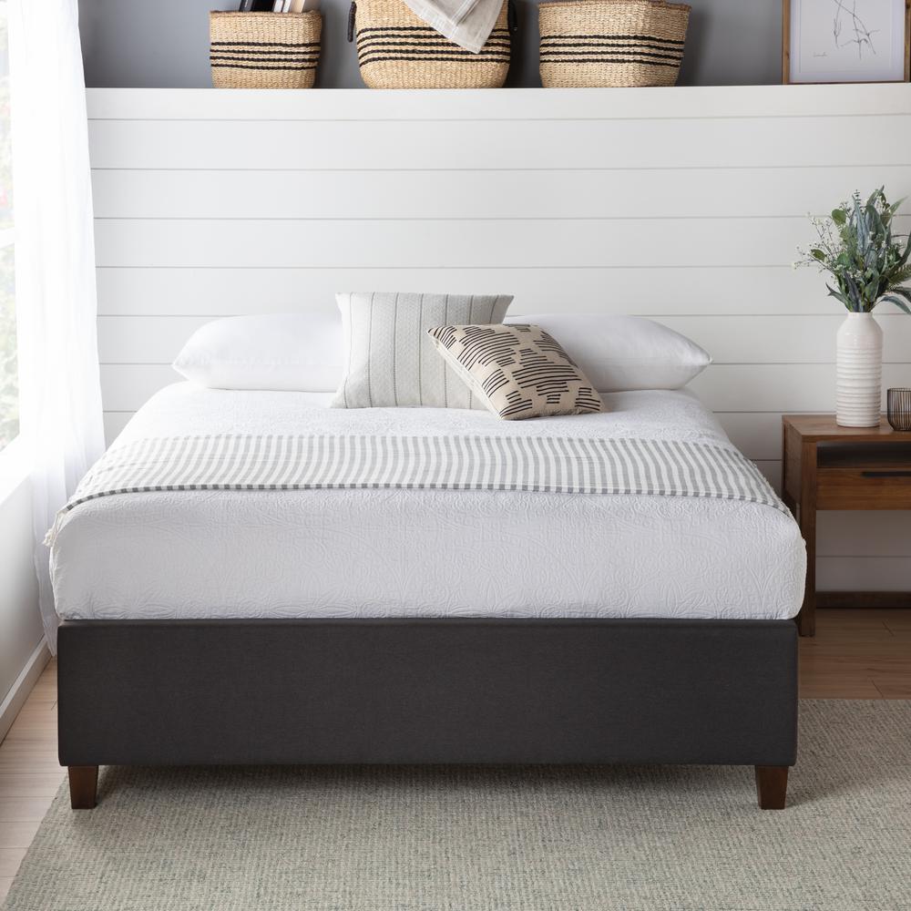 brookside ava upholstered platform bed with slats charcoal cal king bsckchuppl the home depot