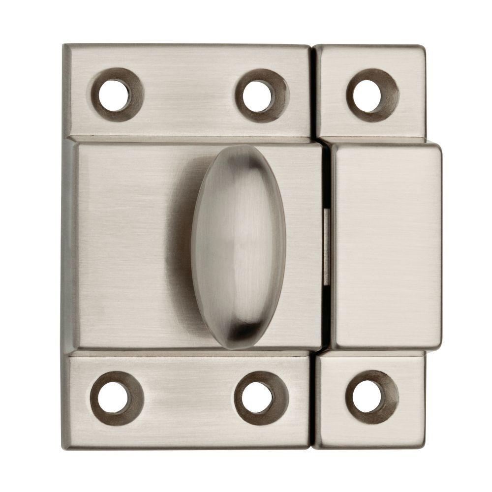 kitchen cabinet latches delta faucets parts hardware the home depot satin nickel matchbox door latch