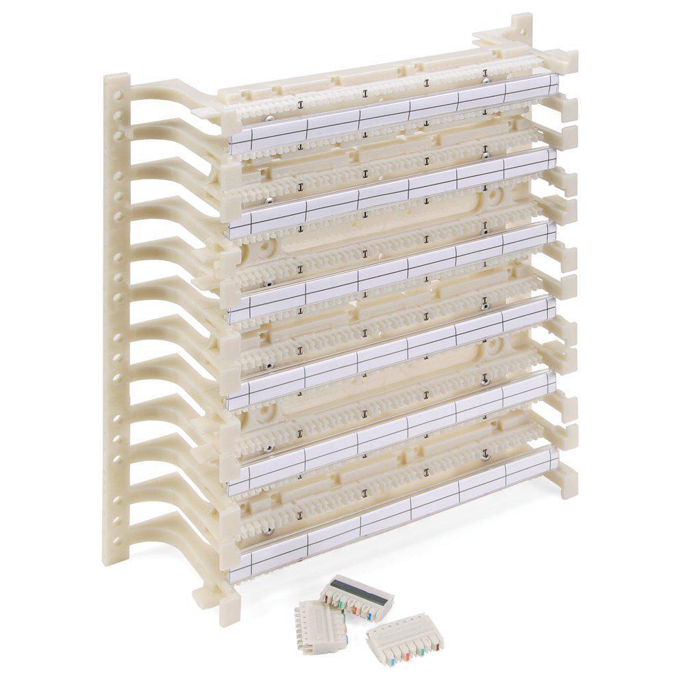 medium resolution of leviton cat 5e 110 style wiring block kit wall mount with legs c