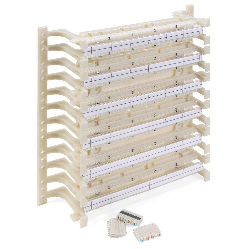 hight resolution of leviton cat 5e 110 style wiring block kit wall mount with legs c