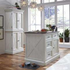 Kitchen Island Home Depot Large White Islands Carts Utility Tables The Seaside Lodge Hand Rubbed With Quartz Stone Top
