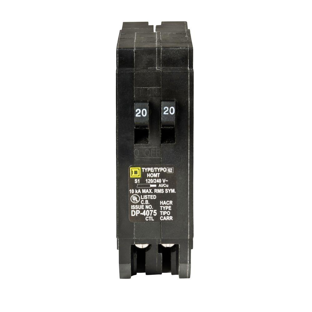 medium resolution of homeline 2 20 amp single pole tandem circuit breaker