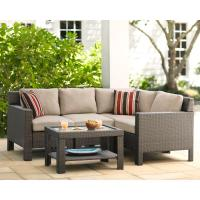 Hampton Bay Beverly 5-Piece Patio Sectional Seating Set ...