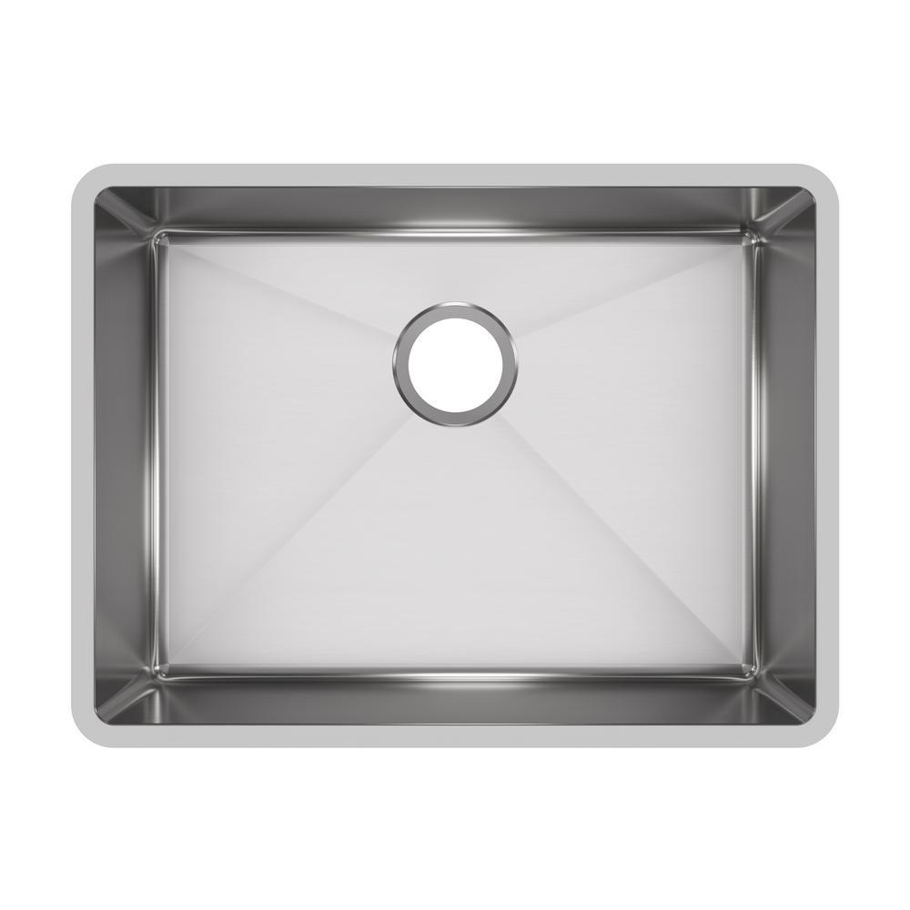 24 kitchen sink mixer elkay crosstown undermount stainless steel in single bowl