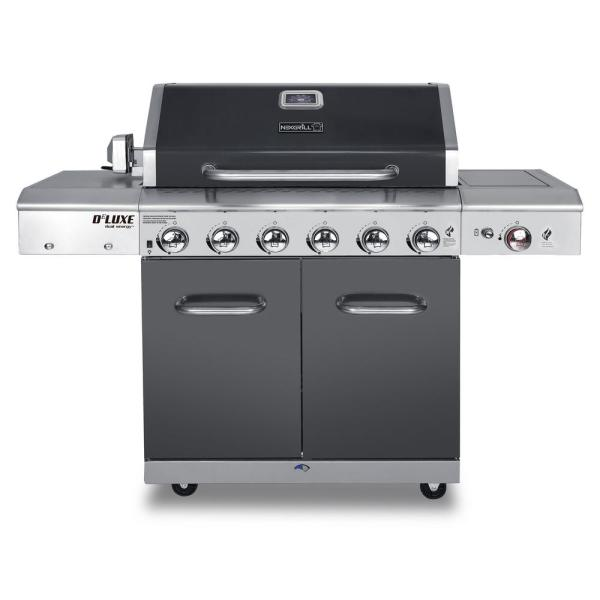 Nexgrill Deluxe 6-burner Propane Gas Grill In Slate With Ceramic Searing Side Burner-720-0896b