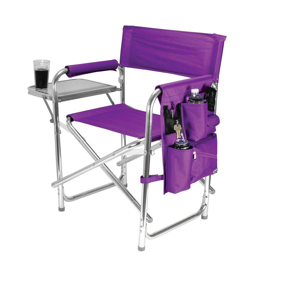 Camping Chair With Canopy Purple Sports Portable Folding Patio Chair