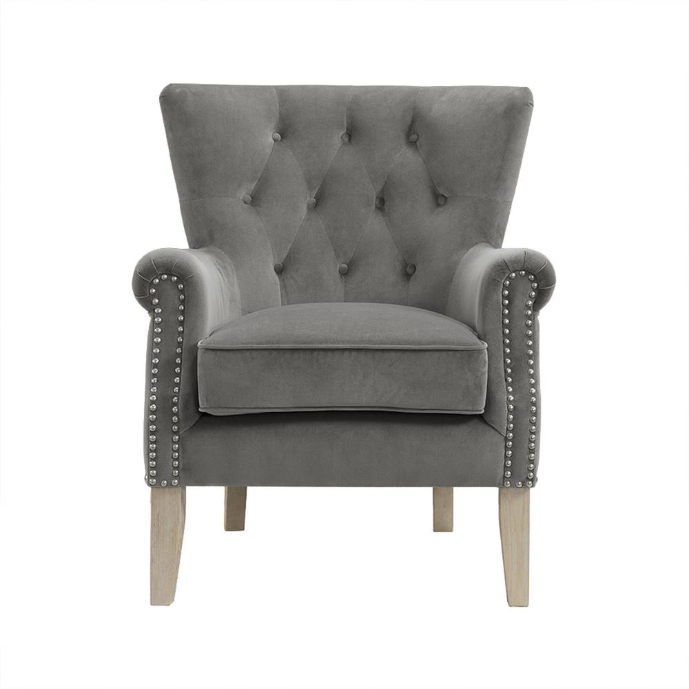 accent chair gray desk gold coast dorel tilda fh7563 gr the home depot