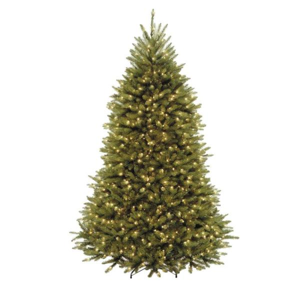 National Tree Company 7.5 Ft. Dunhill Fir Artificial Christmas With 750 Clear Lights-duh3